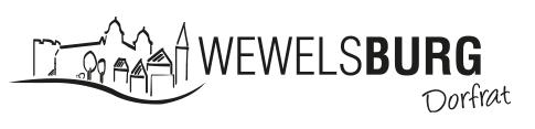 Logo Dorfrat Wewelsburg schwarz-weiss